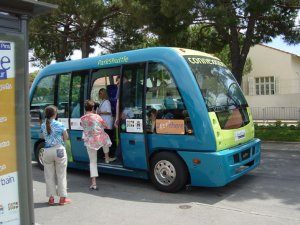 ParkShuttle II test at Antibes